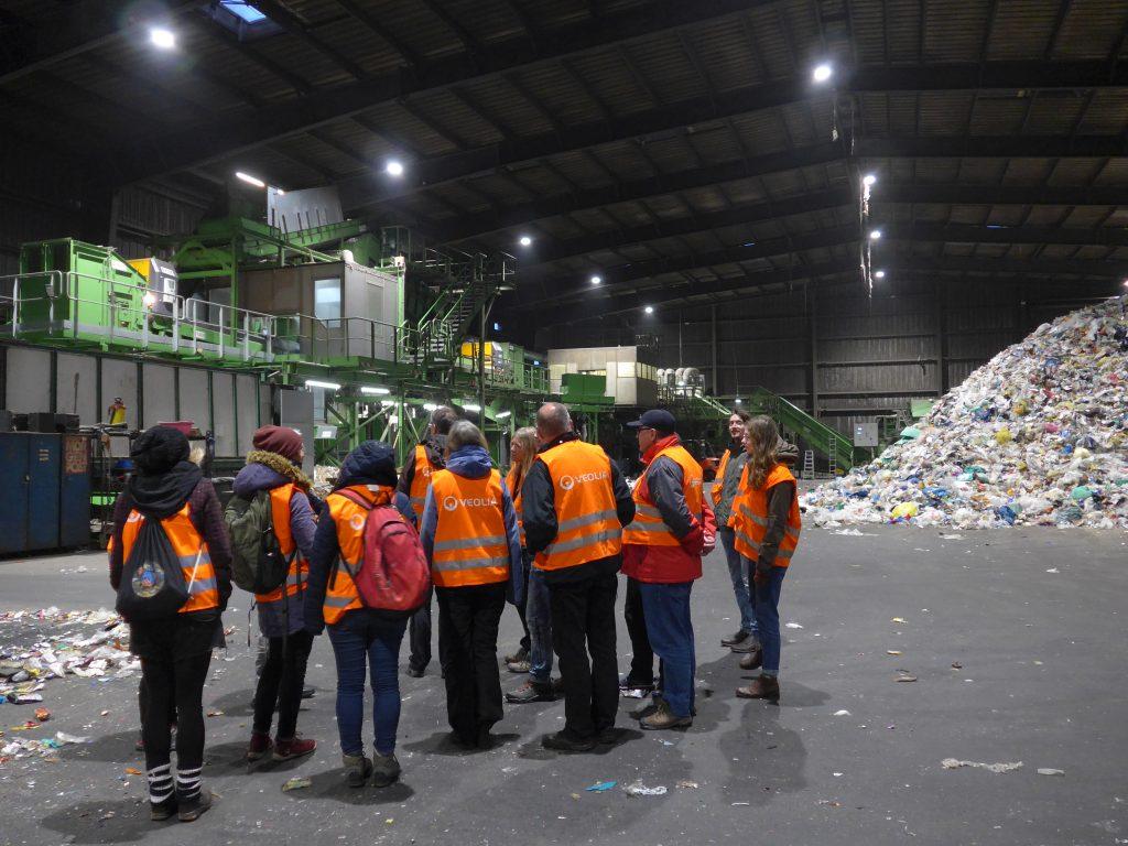 Besuch des Recyclinghofs von Veolia auf der Rosenstraße
